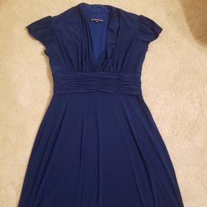 Jones wear Royal Blue dress